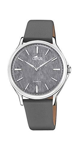 Reloj Lotus 18516/8 de Acero Inoxidable y Piel Gris: Amazon ...