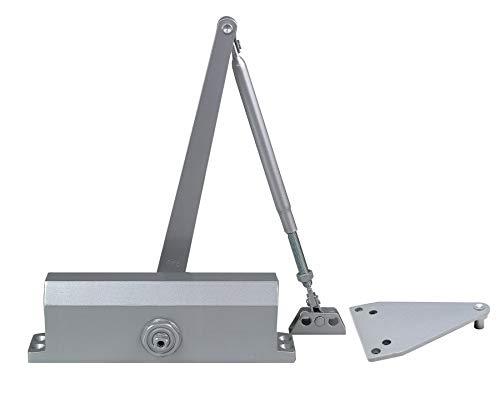 Global Door Controls Commercial Door Closer in Aluminum - Size 4