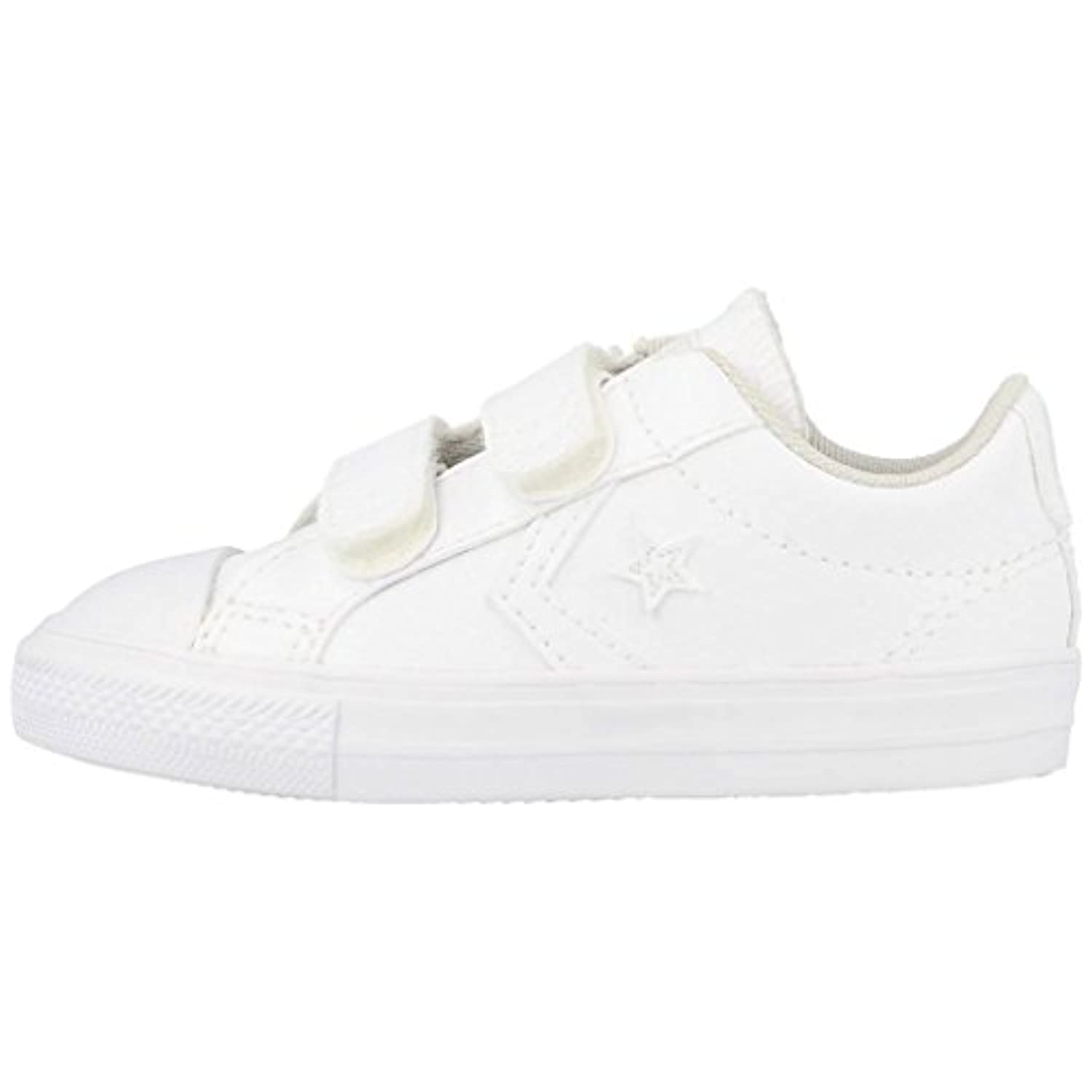 Converse Star Player 3V Infant White Synthetic 4 UK Child