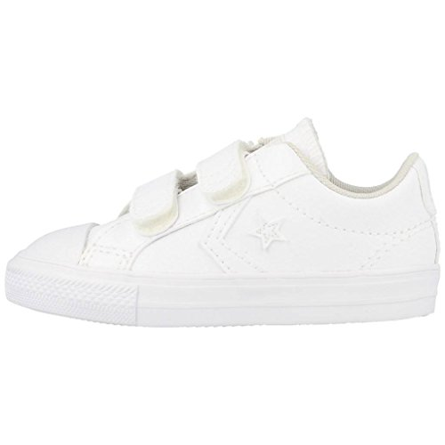 Converse Star Player 3V White Synthetic Baby Trainers White