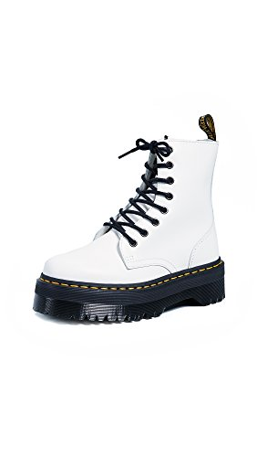 Dr. Martens Women's Jadon 8 Eye Boots, White, 6 M US]()
