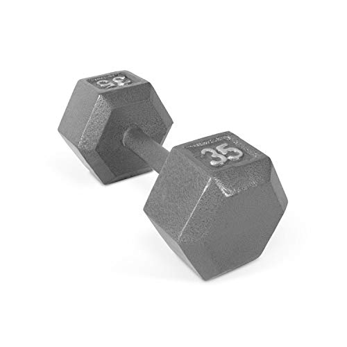 CAP Barbell Solid Hex Dumbbell, Single (35-Pound) ()