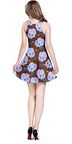 Rainbow amp; Vintage Fun CowCow Women's Colorful Print XS Sleeveless Petals Brown Lavender Fashion 5XL amp; Dress Pastel Halloween Floral 0PH0pxIqw