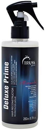 TRUSS Deluxe Prime Hair Treatment - Protein Infused Heat Protectant Spray - Leave In Conditioner, Reconstructor, Detangler, Anti-Frizz, Repairs Dry Damaged Color Treated Hair
