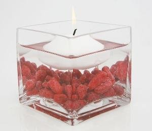Candles4Less - 3 inch Clear Glass Square Vase (24pcs/Bulk), Perfect for weddings, restaurants, floral use