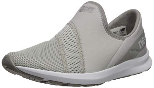 New Balance Women's FuelCore Nergize Slip-On V1 Sneaker, Summer Fog/Rain Cloud/Team Away Grey, 5.5 M US