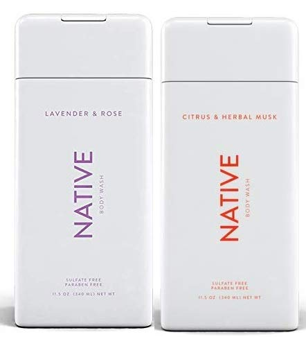 Native Body Wash Bundle - Lavender and Rose & Citrus and Herbal Musk - 11.5 oz (340ml) Each ()