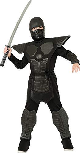 Negro Ninja Costume Niño: Amazon.es: Juguetes y juegos