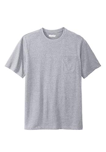 Pocket Crew Tee - KingSize Men's Big & Tall Lightweight Crewneck Cotton Tee Shirt with Pocket,