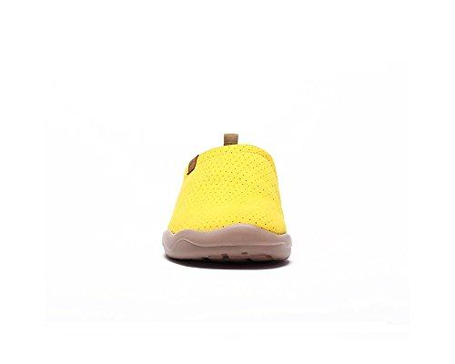 Uin Mens Toledo Microfiber Tillfällig Loafer Sko Gul