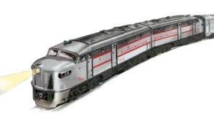 Williams By Bachmann Burlington Alco Fa2 Aa O Scale Diesel Locomotive Set Aa Diesel Locomotive