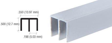CRL Black Upper Plastic Track for 1//4 Sliding Panels D712BL