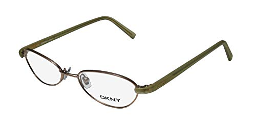 DKNY 6221 Mens/Womens Designer Full-Rim Shape Modern Sleek In Style Made In Italy Eyeglasses/Eyeglass Frame (50-18-135, Light Brown/Light Green)