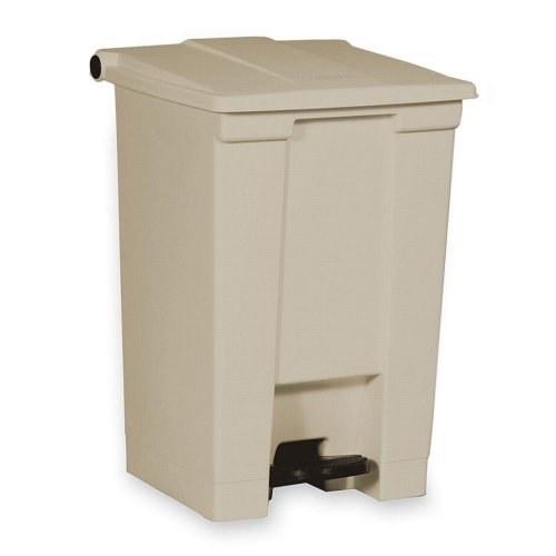 Step On Container,12 Gallon,16-1/4x15-3/4x17-1/8,Beige ()