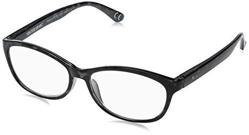 Foster Grant Women's Brielle 1017899-175.COM Cateye Reading Glasses, Crystal with Metallic Gun, 1.75