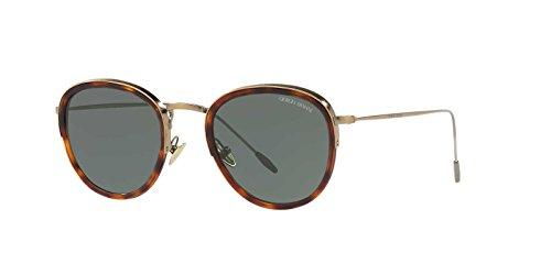 Giorgio Armani Mens Sunglasses Tortoise/Green Metal - Non-Polarized - - Round Armani Sunglasses