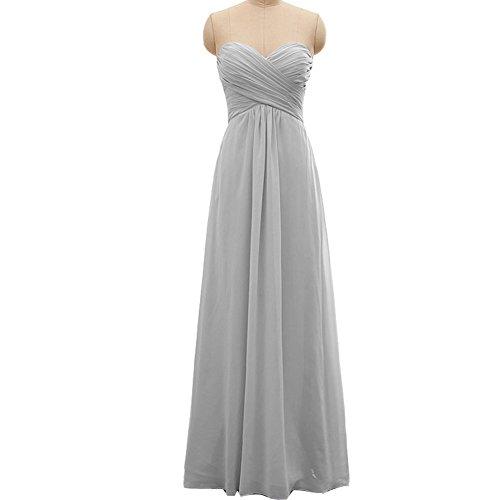 elegant a line sweetheart floor length prom dresses - 8