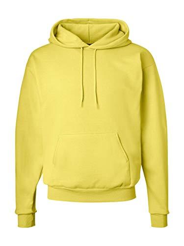 Hanes Men's Pullover EcoSmart Fleece Hooded Sweatshirt, Yellow, Medium from Hanes