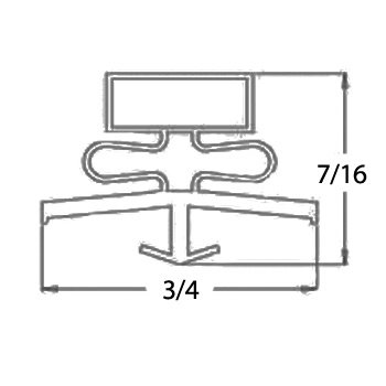 True Manufacturing 810810 Magnetic Door Gasket For TSSU/TUC-27 / TWT-27 by True Manufacturing (Image #1)