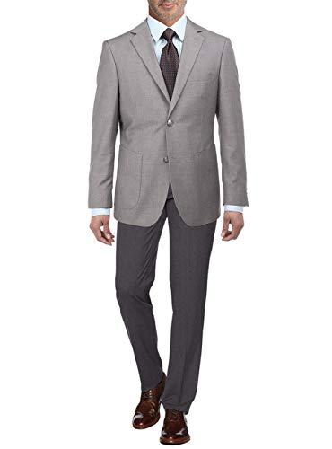 - Salvatore Exte Men's 2 Button Suit Separate Jacket Sport Coat Blazer (44 Short US / 54S EU, Light Gray)