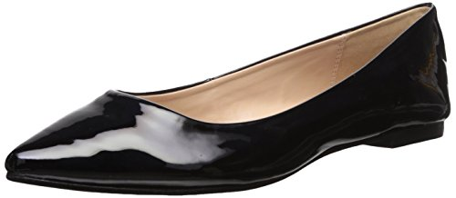 BCBG Generation Women's Millie Ballet Flat, Black Patent, 8 M (Black Patent Leather Ballerina)