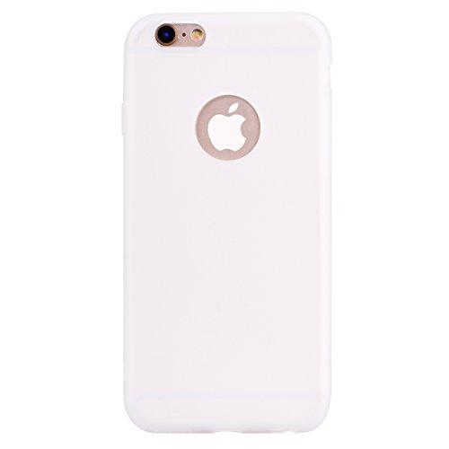 iPhone 6 6S Hülle , Fashion Weiß TPU Leicht Weich Tasche Schutzhülle Silikon Handyhülle Stoßdämpfende Clear Schale Fall Case Shell für Apple iPhone 6 6S
