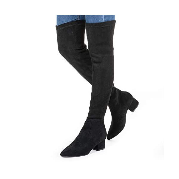 N.N.G Women Boots Winter Over Knee Long Boots Fashion Boots Heels Autumn Quality Suede Comfort Square Heels US Size