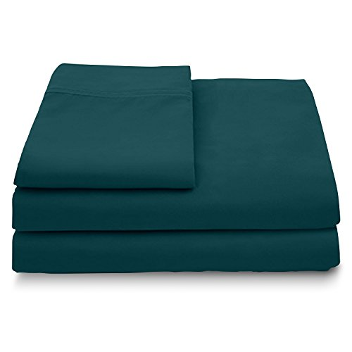 Cosy House Collection Luxury Bamboo Bed Sheet Set - Hypoallergenic Bedding Blend from Natural Bamboo Fiber - Resists Wrinkles - 4 Piece - 1 Fitted Sheet, 1 Flat, 2 Pillowcases - Queen, Dark Teal