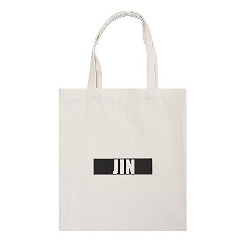 Kpop Shoulder Bag Printed Bag White Canvas Yuxareen BTS Bag Messenger Tote Canvas Boys 4 Bangtan dWz8qA
