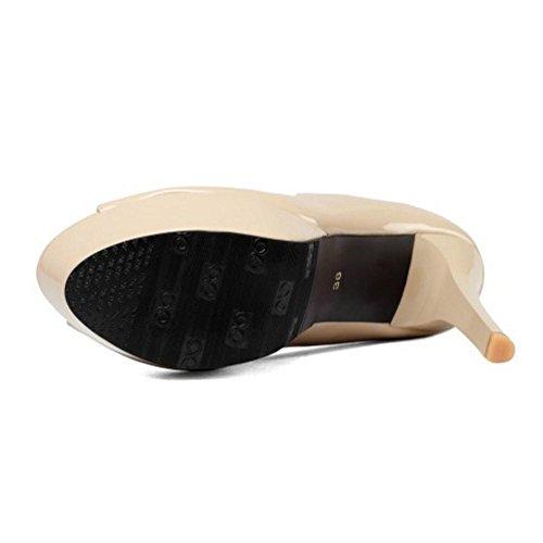Coolcept Zapatos de Tacon de Aguja Para Mujer apricot