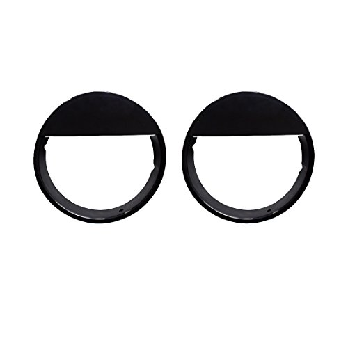 IPARTS Glossy Black Angry Bird Headlight Bezels Kit for Jeep Wrangler TJ 1997-2006