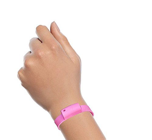 Pepper Spray Bracelet with Adjustable Silicone Band, Pink | Contains 3 - 6 Bursts of 10% Oleoresin Capsicum (OC) | Lightweight & Discreet for Men or Women from Little Viper | Cannot Ship to MA or NY
