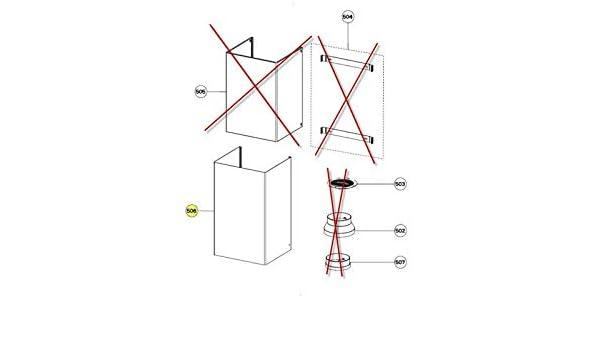 Campana Conduit Bas Negro Gliss Rep 506 referencia: 133.0255.017 para campana Roblin: Amazon.es: Grandes electrodomésticos