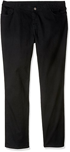 Riders by Lee Indigo Women's Tall Plus Size Comfort Collection Straight Leg Jean, Black, 22L