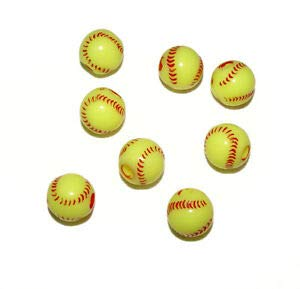 Softball Beads 60pc for School Sports Jewelry Necklaces Bracelets Kids Crafts Crafting Key Chain Bracelet Necklace Jewelry Accessories Pendants