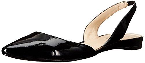 Nine West Women's Werein Synthetic Ballet Flat, Black, 39 B(M) EU/7 B(M) UK