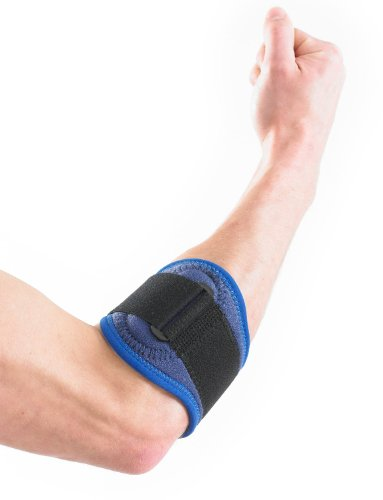 NEO G Tennis/Golf Elbow Strap - Medical Grade Quality HELPS with epicondylitis, Tennis/Golfers elbow, sprains & repetitive strain injuries, relieves tendonitis and forearm Pain – ONE SIZE Unisex Brace by Neo-G