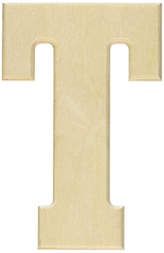MPI MDF5-L120 Baltic Birch University Font Letters and Numbers, 5-Inch, Letter T