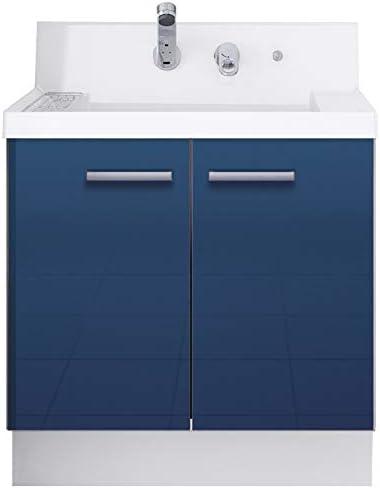 イナックス(INAX) 洗面化粧台 K1シリーズ 幅75cm 両開きタイプ シングルレバーシャワー水栓 K1N4-755SY/B12H 一般地用 アーバンブルー(B12H)