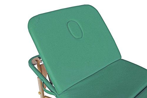 polironeshop Profi-Liege tragbar und faltbar für Massagen, Physiotherapie, Haarentfernung, Maniküre und Pediküre minzgrün