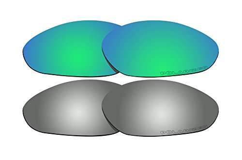 610a96dfc5 2 Pairs Polarized Lenses Replacement Green   Black Iridium for Oakley  Minute 2.0 Sunglasses - Buy Online in Oman.