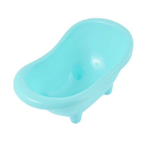 DealMux Plastic Pet Rat Mice Bathtub Hamsters Gerbil Bath Bathroom Tub Blue
