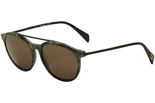 Diesel - DL 0188, Geometric, acetate, men, GREEN MARBLE/ROVIEX(98J B), - Mens Sunglasses Diesel