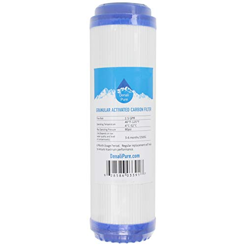 Replacement for Aqualux AQL2E Granular Activated Carbon Filter - Universal 10-inch Cartridge Compatible with Aqualux Two Stage Drinking Water System - Denali Pure -