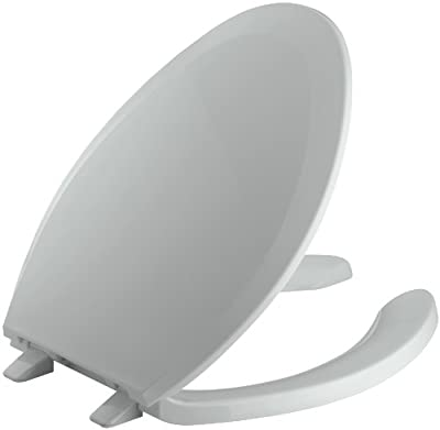 KOHLER K-4650-95 Lustra Elongated Open-Front Toilet Seat, Ice Grey