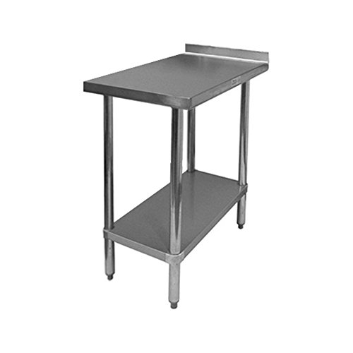 (GSW Commercial Work Table with Stainless Steel Top, 1 Galvanized Undershelf, 1-1/2
