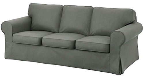 The Dark Gray Dense Cotton Ektorp 3 Seat Sofa Cover Replacem