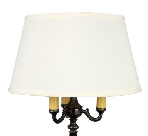 (Upgradelights 19 Inch White Linen Replacement Lamp Shade for Old Floor)