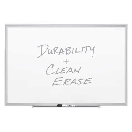 Quartet Magnetic Whiteboard, Premium Dry Erase Board, Duramax, 2 x 3 Feet, Silver Aluminum Frame (2543) (Porcelain Premium Marker Board)