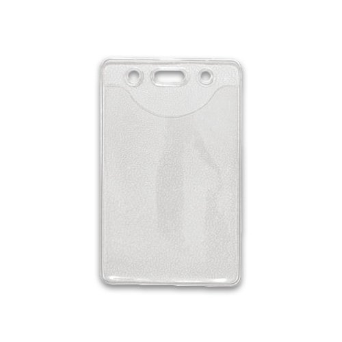 Vertical Clear Vinyl Data/Credit Card Sized Badge Holder with Slot/Chain Holes (Qty 100) by Brady People ID